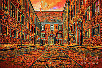 Photograph - Courtyard 16218 by Ray Shrewsberry