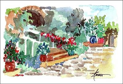 Painting - Courtyard At Mistra  by Adele Bower