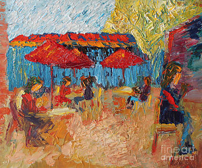 Courtyard At The Common Market Original by Robert Yaeger