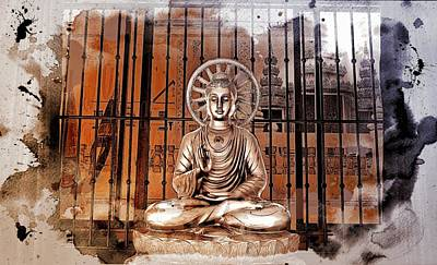 Photograph - Courtyard Buddha Shrine by Ian Gledhill