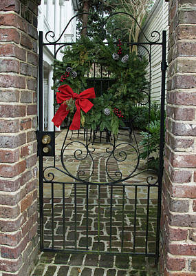 Photograph - Courtyard Christmas by Ed Waldrop