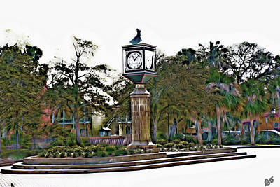 Photograph - Courtyard Clock Saint Augustine by Gina O'Brien