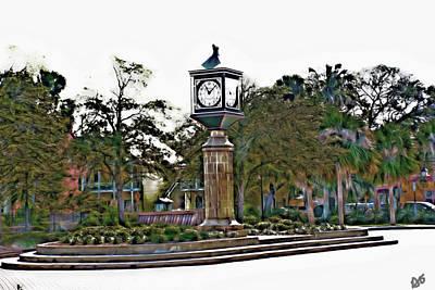 Photograph - Courtyard Clock Saint Augustine by Gina O'Brien