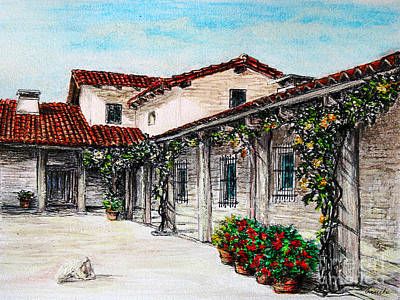 Courtyard Art Print by Danuta Bennett