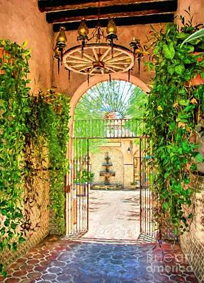 Southwest Gate Photograph - Courtyard Entrance In Sedona Arizona by Mel Steinhauer