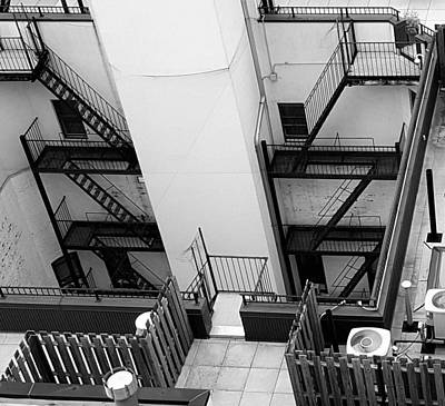 Fireescape Photograph - Courtyard Esacapes by Rob Hans