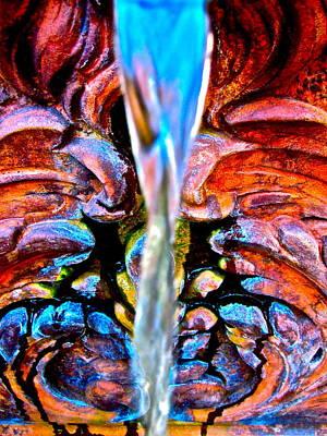 Courtyard Fountain Art Print by Gwyn Newcombe