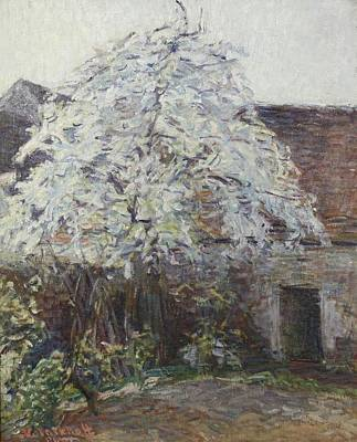 Early Spring Painting - Courtyard In The Early Spring by MotionAge Designs
