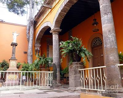 Photograph - Courtyard In The Parroquia Of San Miguel De Allende by Barbie Corbett-Newmin