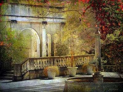 Art Print featuring the photograph Courtyard by John Rivera