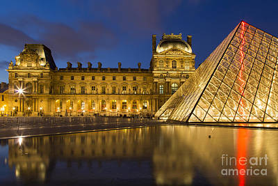 Photograph - Courtyard Musee Du Louvre - Paris by Brian Jannsen