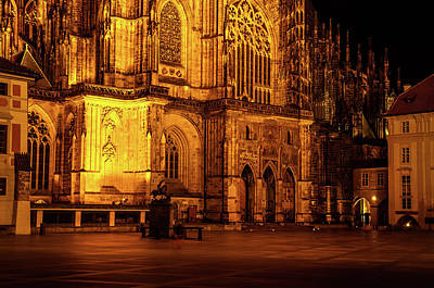 Photograph - Courtyard Of St. Vitus Cathedral 1 by Jenny Rainbow