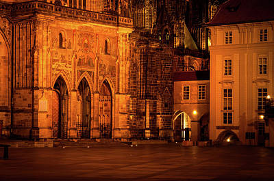 Photograph - Courtyard Of St. Vitus Cathedral  by Jenny Rainbow