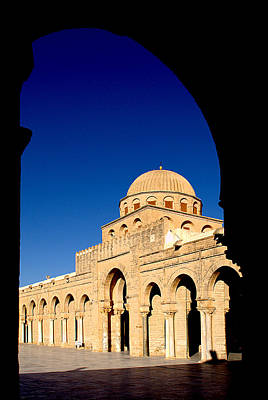 Photograph - Courtyard Of The Great Mosque Of Kairouan by Habib M henni