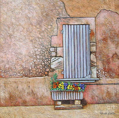 Courtyard Original by Pamela Iris Harden