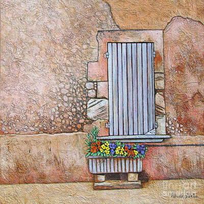 Courtyard Art Print by Pamela Iris Harden