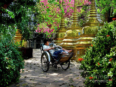 Courtyard Siesta, The Cambodia Collection Original