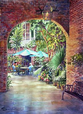 Courtyard Art Print by Sue Zimmermann