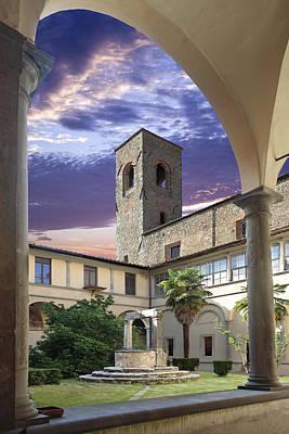 Photograph - Courtyard Cortona Tuscany by Al Hurley