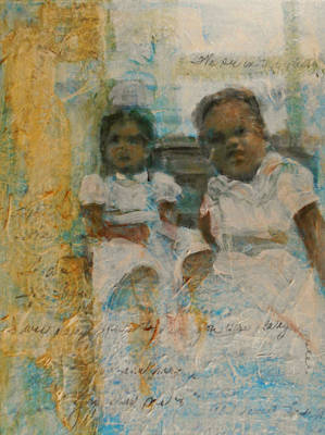 Mixed Media - Cousins by Cora Marshall