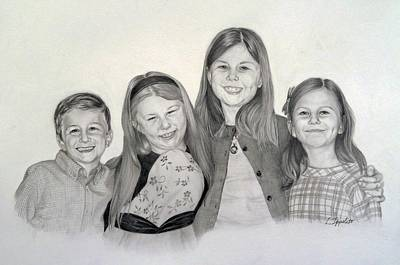 Drawing - Cousins  by Lori Ippolito