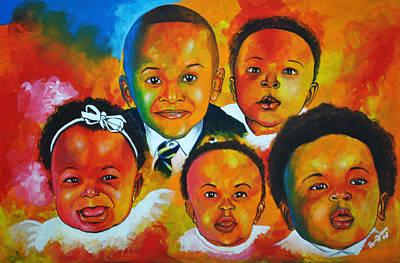 Haitian Painting - Cousins by Pierre Etienne