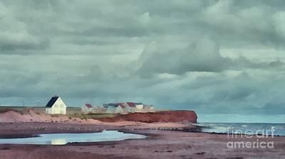 Soil Digital Art - Cousins Shore Prince Edward Island Landscape by Edward Fielding