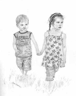 Cousins Art Print by Sue Olson