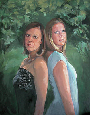 Painting - Cousins by Synnove Pettersen