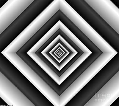 Covariance  6 Modern Geometric Black White Art Print