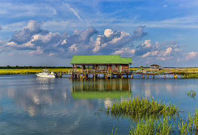 Photograph - Cove Creek Boathouse - Sullivan's Island Sc by Donnie Whitaker