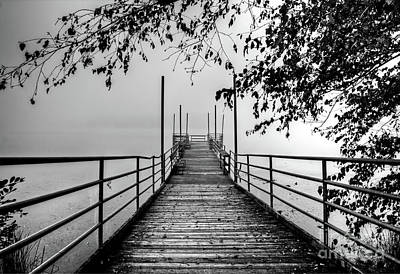 Photograph - Cove Lake Fishing Pier by Douglas Stucky