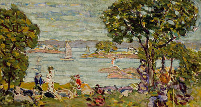 Maine Painting - Cove  Maine by Maurice Brazil Prendergast