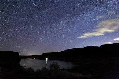 Photograph - Night At  The Cove Palisades by Cat Connor