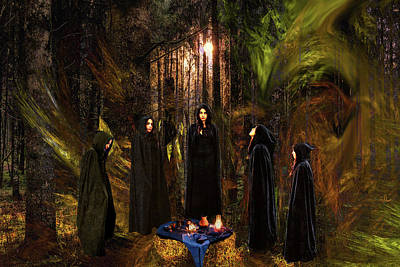 Digital Art - Coven by Lisa Yount