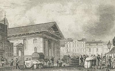 St Paul Drawing - Covent Garden by Thomas Hosmer Shepherd