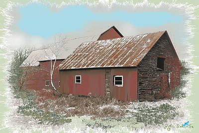 Coventry Barn Art Print by John Selmer Sr