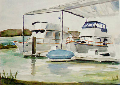 Painting - Covered Berths At Loch Lomond Marina by Tom Simmons