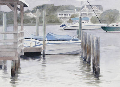 Watercolor Painting - Covered Boat by Christopher Reid