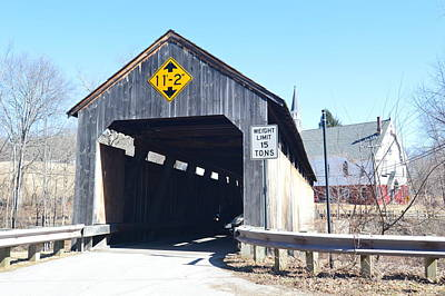 Photograph - Covered Bridge 1 by Charles HALL