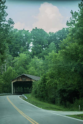 Photograph - Covered Bridge 1 by Melissa Newcomb