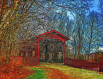 Photograph - Covered Bridge 14318 by Ray Shrewsberry