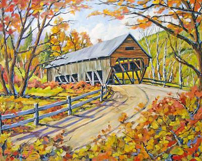 Covered  Bridge 2 Art Print by Richard T Pranke
