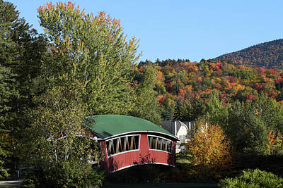 Photograph - Covered Bridge And Foliage by John Clark