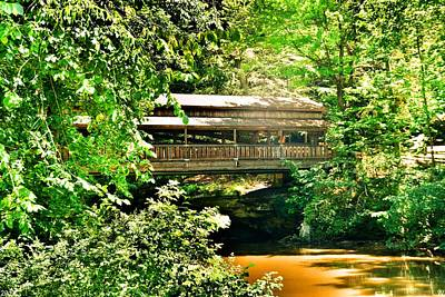 Photograph - Covered Bridge At Lanterman's Mill by Lisa Wooten