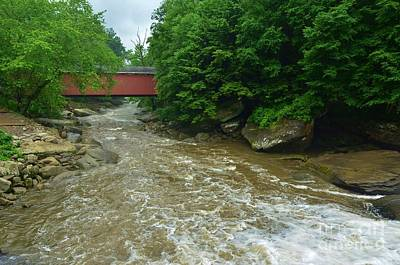 Photograph - Covered Bridge At Mcconnels Mill - 2 by Bob Sample