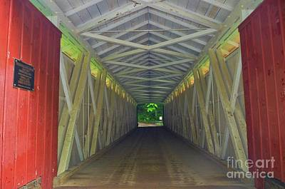 Photograph - Covered Bridge At Mcconnels Mill - 4 by Bob Sample