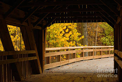 Photograph - Covered Bridge by Charles Owens