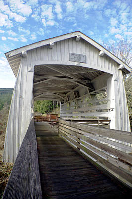 Photograph - Covered Bridge Crossing by Adria Trail