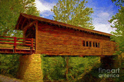 Photograph - Covered Bridge by Dave Bosse